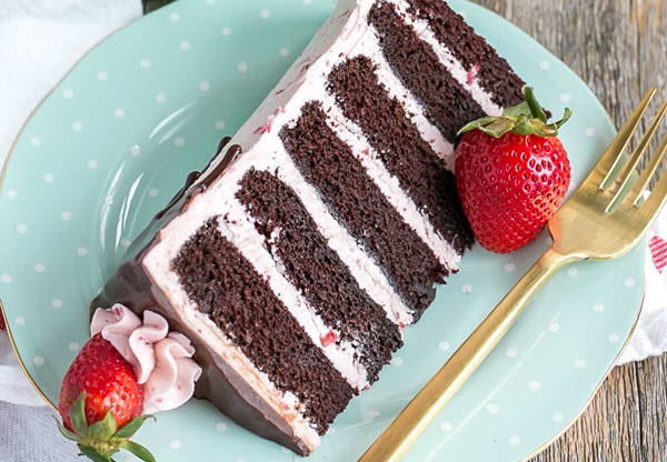 Photo of Chocolate Strawberry Cake