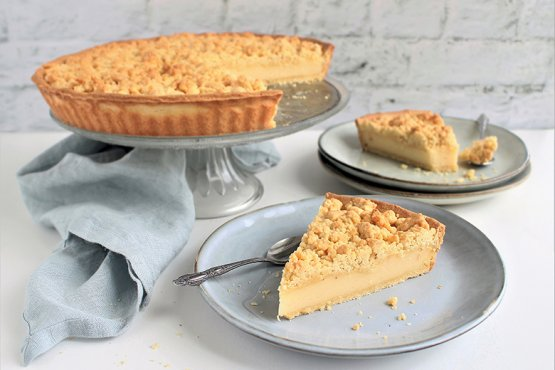 Photo of Crumble cake with pudding – recipe