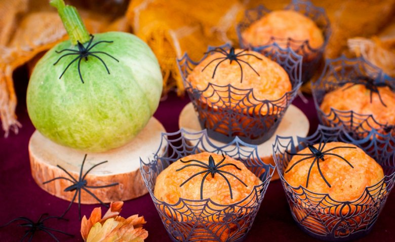 Spicy Halloween muffins are a real eye-catcher.