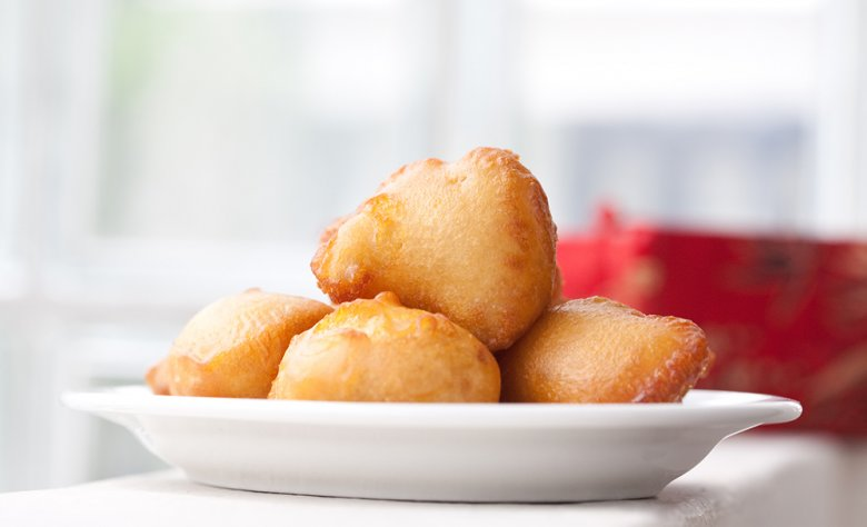 Delicious fried quark balls are worth a sin.