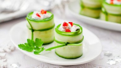 Photo of Feta cucumber rolls |  CookScool.com
