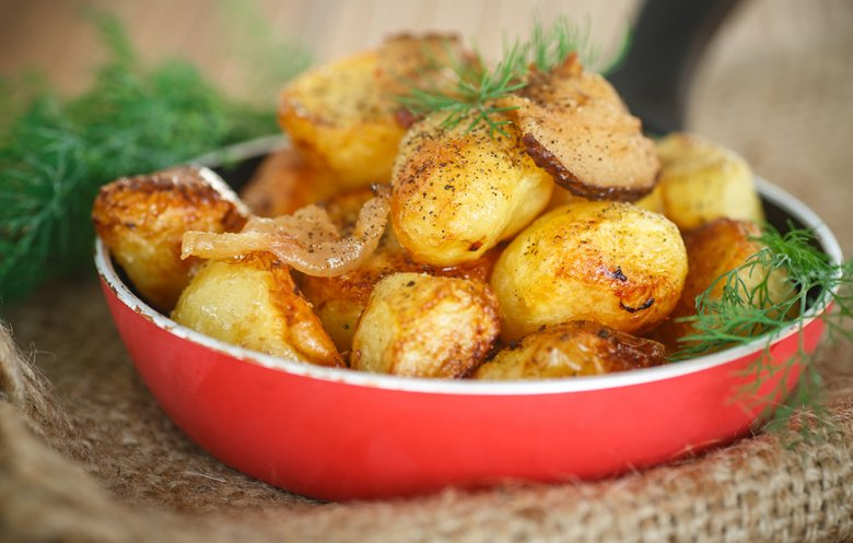 Roasting potatoes gives them a delicious roasted aroma.