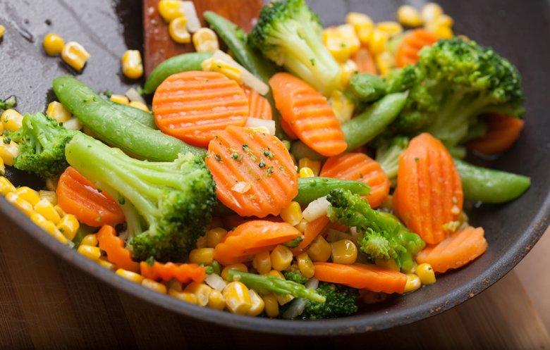 Fried vegetables are also impressive.